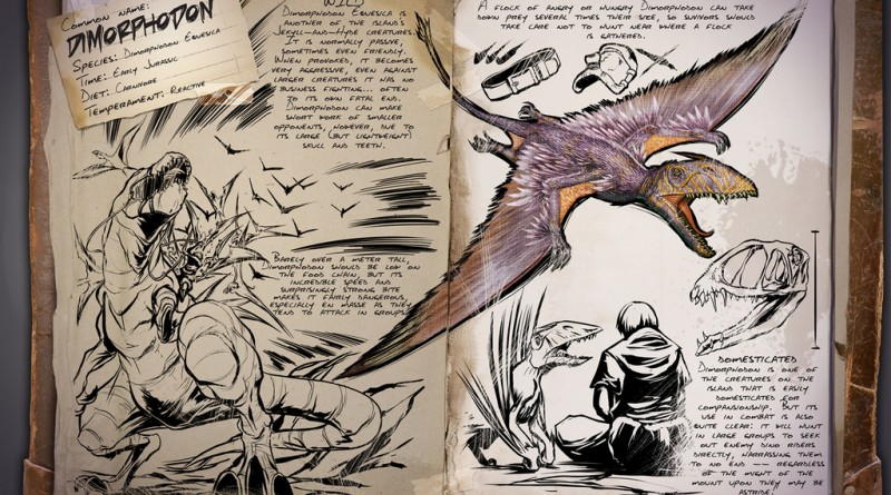 ARK Survival Evolved Новые динозавры Dimorphodon | Диморфодон ARK Survival Evolved