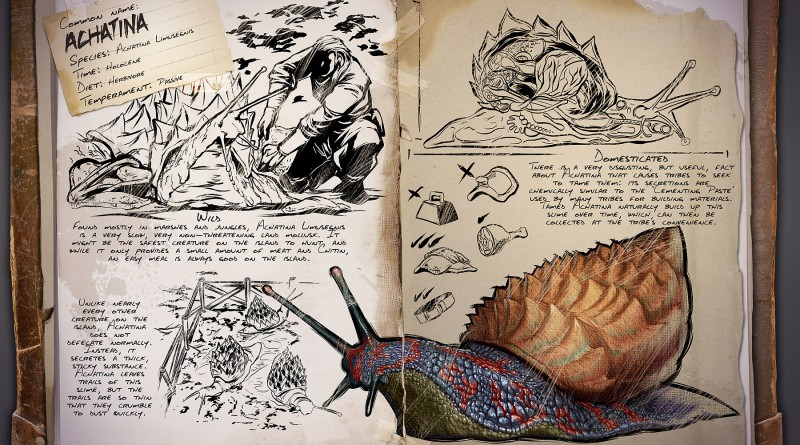 ARK Survival Evolved Новые динозавры Achatina | Ахатина | Улитка ARK Survival Evolved
