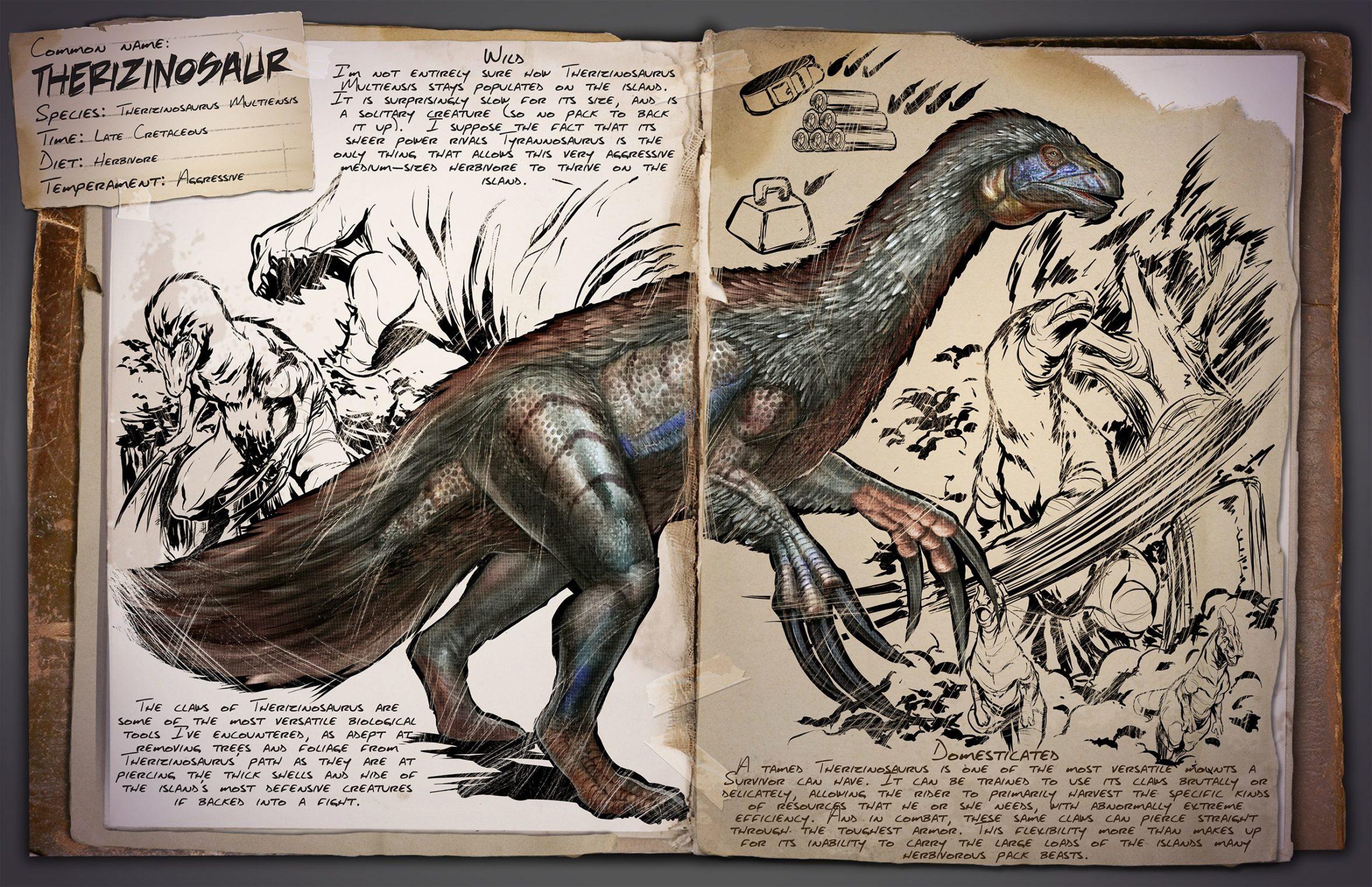 Теризинозавр | Therizinosaur ARK Survival Evolved