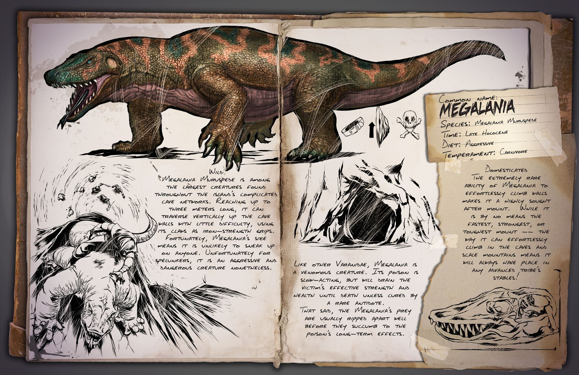 Мегалания | Megalania ark survival evolved