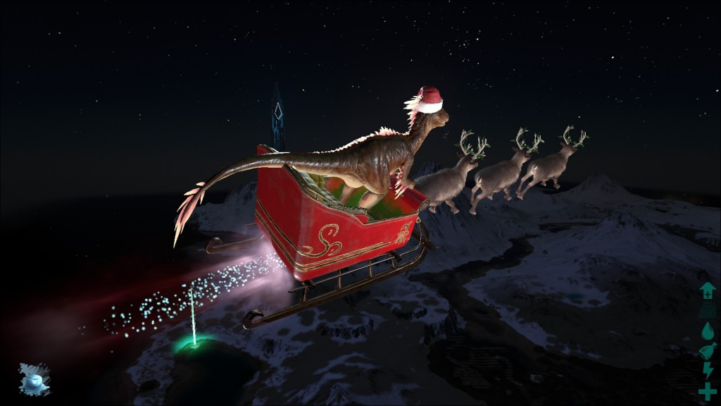 Раптор Санта-клаус Winter wonderland