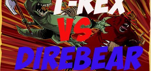 T-Rex vs Direbear ARK Survival Evolved. ТиРекс vs Медведь - кто сильней?
