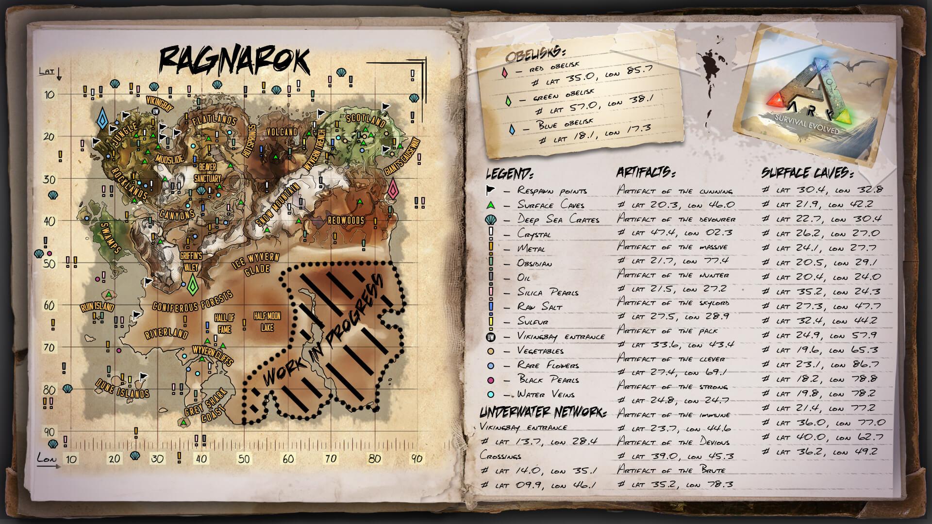 карта ragnarok ark