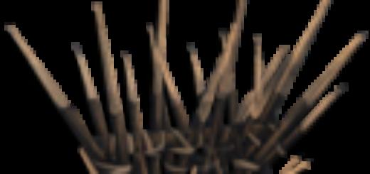 Wooden Spike Wall | Деревянная стена из шипов