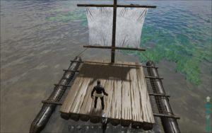 Водный плот в игре ARK Survival Evolved