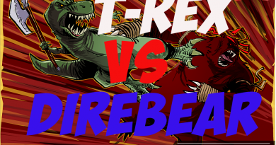 T-Rex vs Direbear ARK Survival Evolved. ТиРекс vs Медведь — кто сильней?