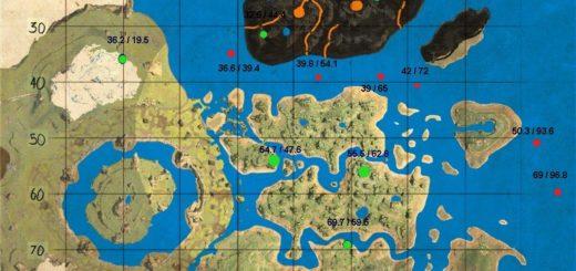 Карта подводного дропа и пещер карты Центр