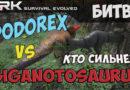 ДодоРЕКС vs Гиганотозавр ARK Survival Evolved. Кто сильней?