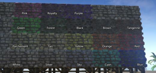 ARK Survival Evolved ID список цветов для покраски Дино