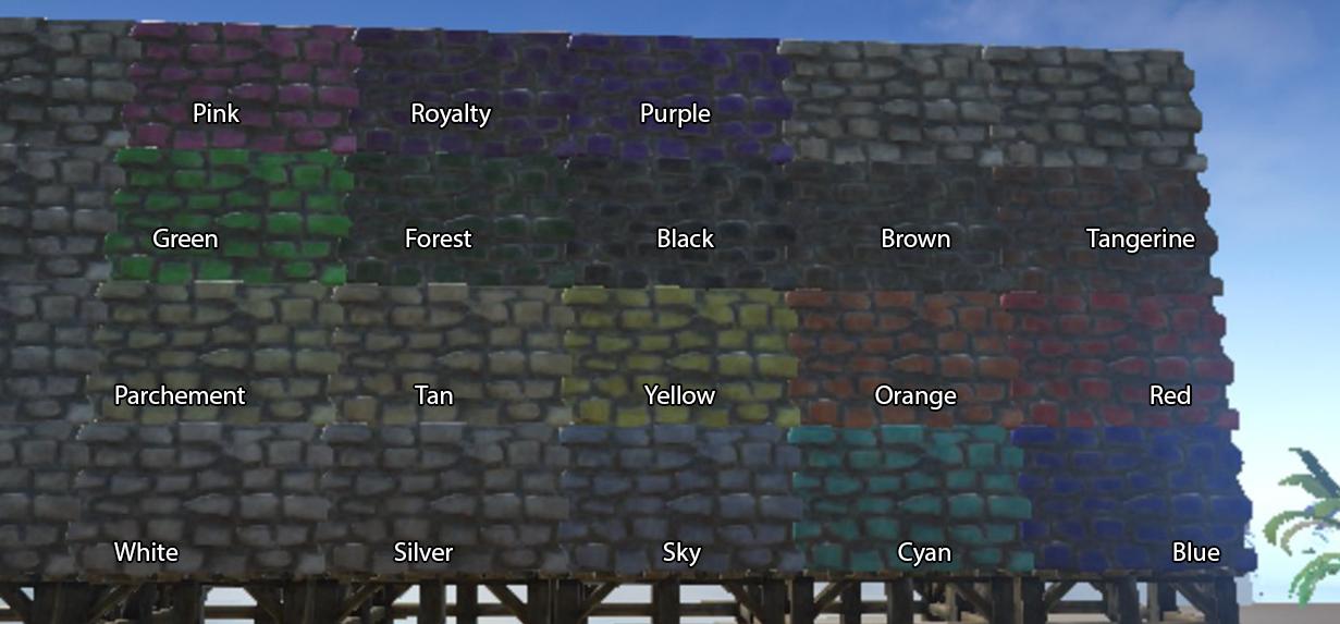 ID список цветов для покраски Дино | ARK: Survival Evolved | Русский сайт  игры