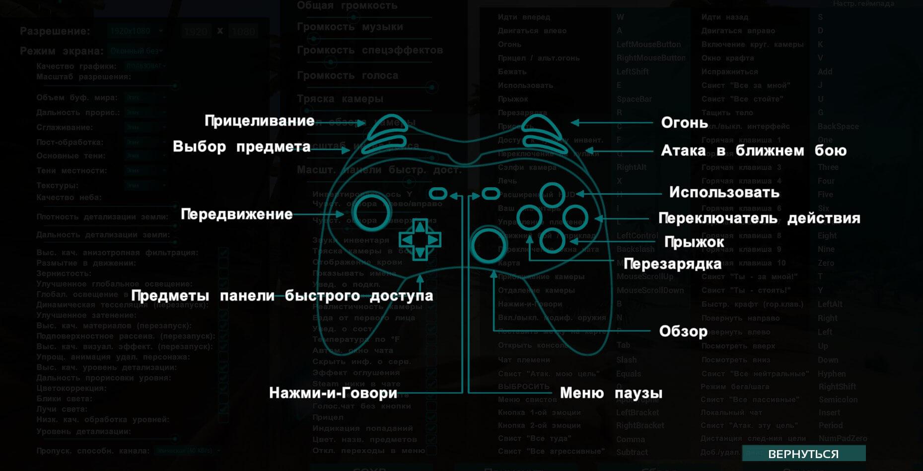 Полная поддержка управления геймпадом